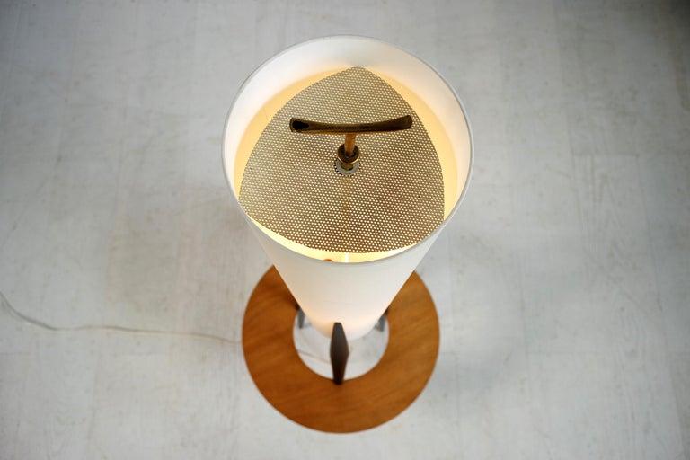 Blackened Jean Rispal, Japanese Tripod Floor Lamp, France, 1950 For Sale
