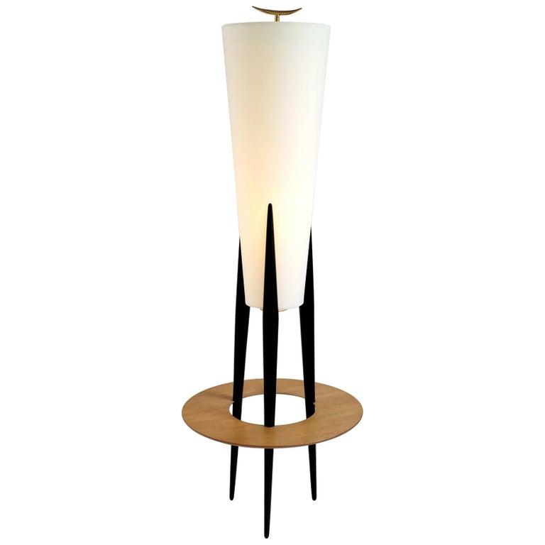 Jean Rispal, Japanese Tripod Floor Lamp, France, 1950 For Sale