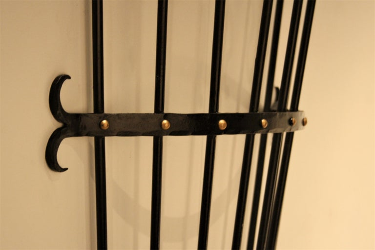 Jean Royère Style Wall Coat Rack, 1950s For Sale 1