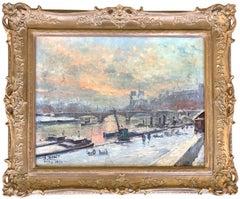 Barges on the Seine, Paris