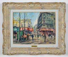 La Poste   1954  PARIS  - Post Impressionist street scene