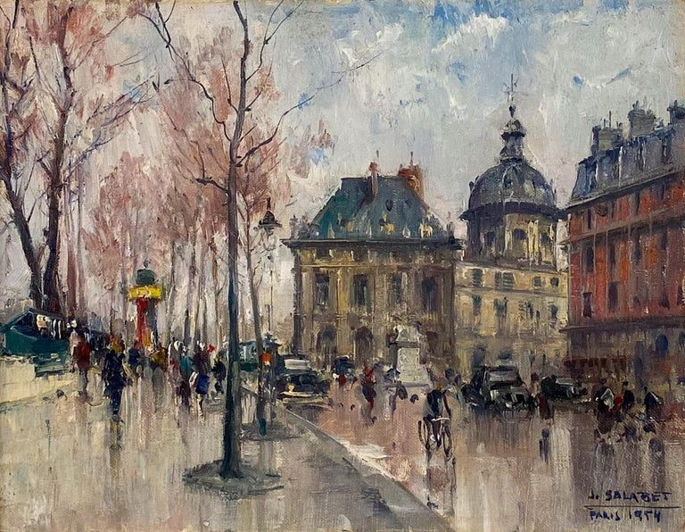 Les Bouquiniste, Paris by Jean Salabet For Sale 1