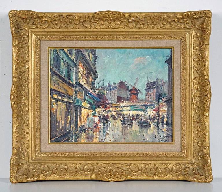 Moulin Rouge Painting by Marcel Dyf - Gray Landscape Painting by Jean Salabet