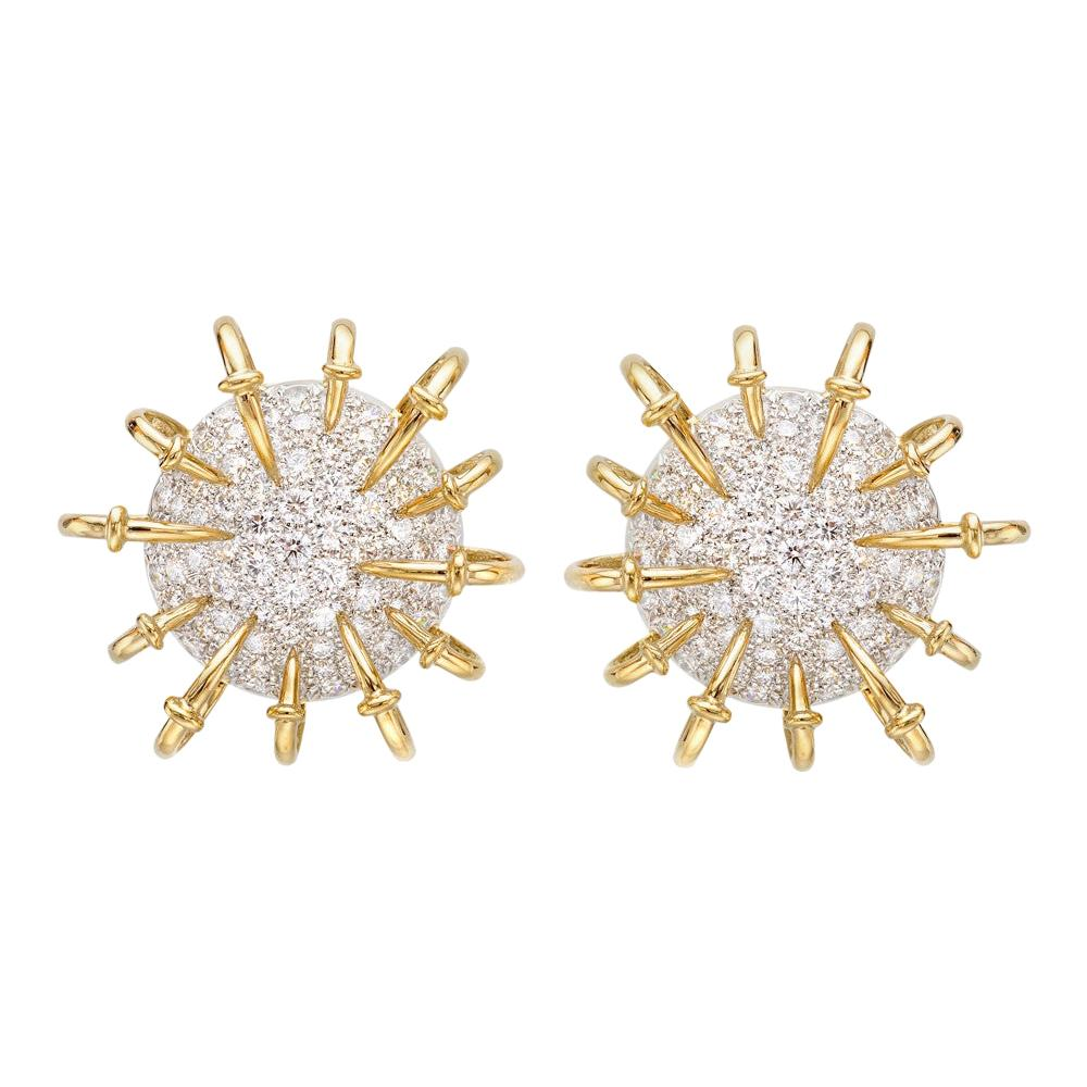 Jean Schlumberger for Tiffany & Co. Diamond Apollo Earrings