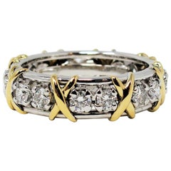 Jean Schlumberger for Tiffany & Co. Diamond Sixteen Stone X Eternity Band Ring
