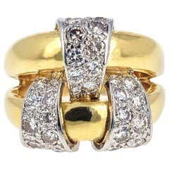 Jean Schlumberger for Tiffany & Co. Gold Platinum and Diamond Ring