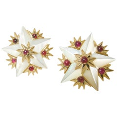 Jean Schlumberger for Tiffany & Co. Star Earrings, French, circa 1960