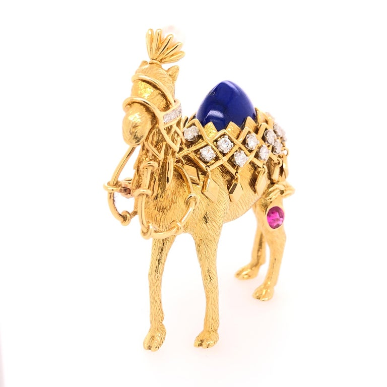 Artist Jean Schlumberger for Tiffany & Co. Yellow Gold Camel Pin For Sale