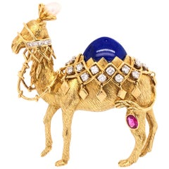 Jean Schlumberger for Tiffany & Co. Yellow Gold Camel Pin