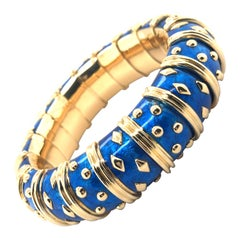 Jean Schlumberger, Tiffany & Co. Blue 'Dot Losange' Bracelet