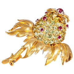 Jean Schlumberger, Tiffany & Co. Peridot and Ruby Thistle Brooch