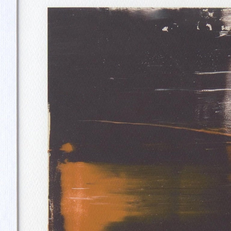 Black, Orange, White and Grey Composition Abstract Fine Art Giclee Print For Sale 10