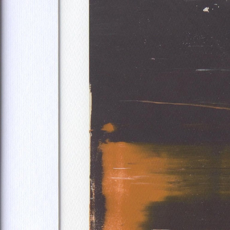 Black, Orange, White and Grey Composition Abstract Fine Art Giclee Print For Sale 2