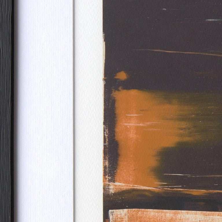 Black, Orange, White and Grey Composition Abstract Fine Art Giclee Print For Sale 5
