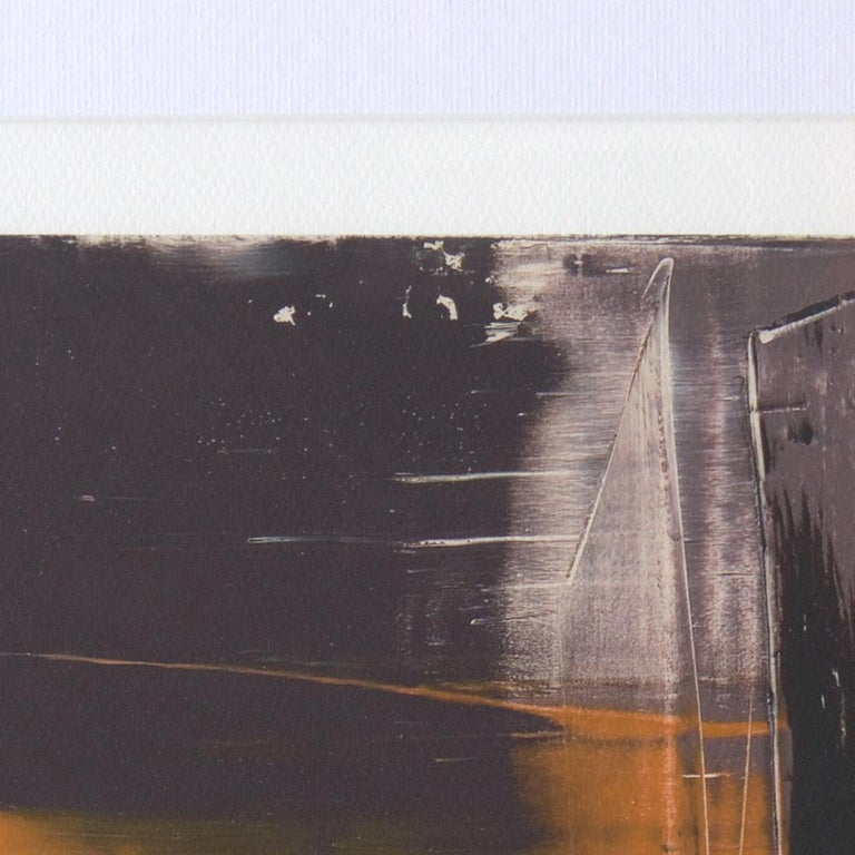 Black, Orange, White and Grey Composition Abstract Fine Art Giclee Print For Sale 6