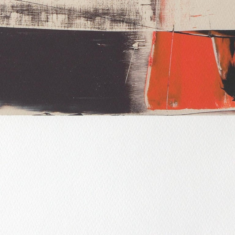 Black, Orange, White and Grey Composition Abstract Fine Art Giclee Print For Sale 8