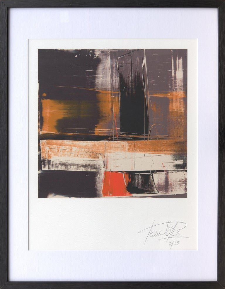 This fine art giclee print is a high quality reproduction of an artwork by Jean Soyer.  It is limited to 25prints, verified, numbered and hand-signed by the artist.  The paper is matt cotton fine art 340g paper, as used in digigraphy.  Inks have