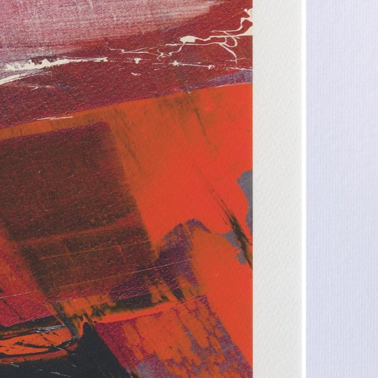 Red, Orange and Black and Blue Landscape Abstract Fine Art Giclee Print For Sale 7