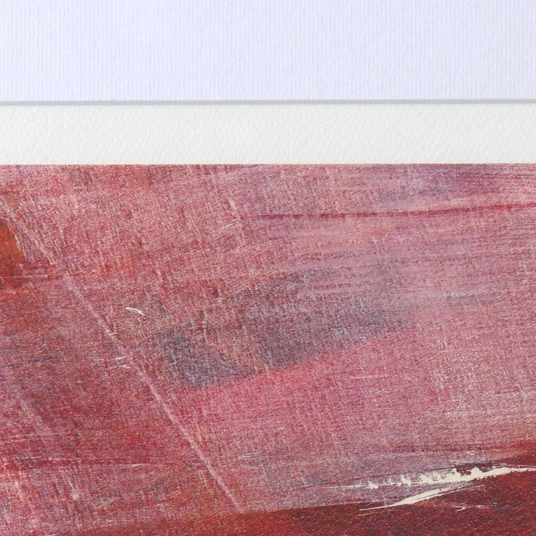 Red, Orange and Black and Blue Landscape Abstract Fine Art Giclee Print For Sale 2