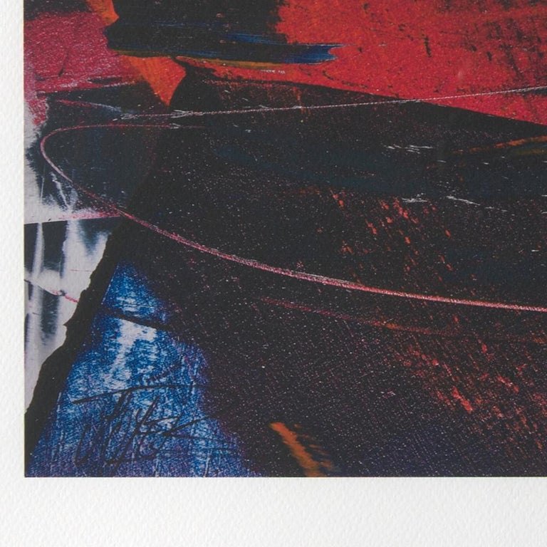 Red, Orange and Black and Blue Landscape Abstract Fine Art Giclee Print For Sale 5
