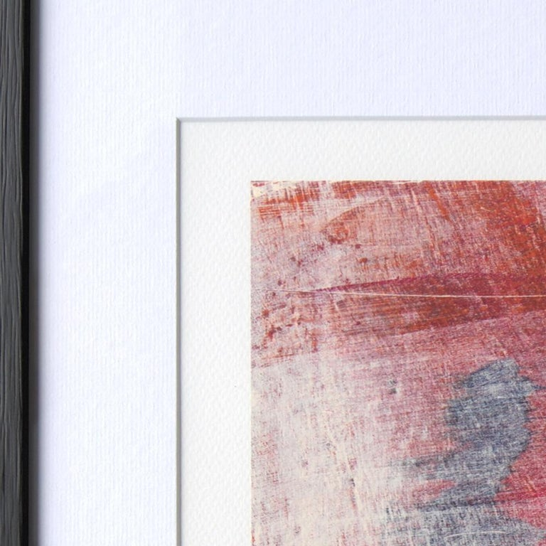Red, Orange and Black and Blue Landscape Abstract Fine Art Giclee Print For Sale 6