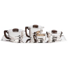 Jean Tetard & Christofle  Silver Tea / Coffee Set 5 Pieces