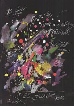 1982 Jean Tinguely 'Montreux Jazz Festival' Advertising Multicolor,Black & White