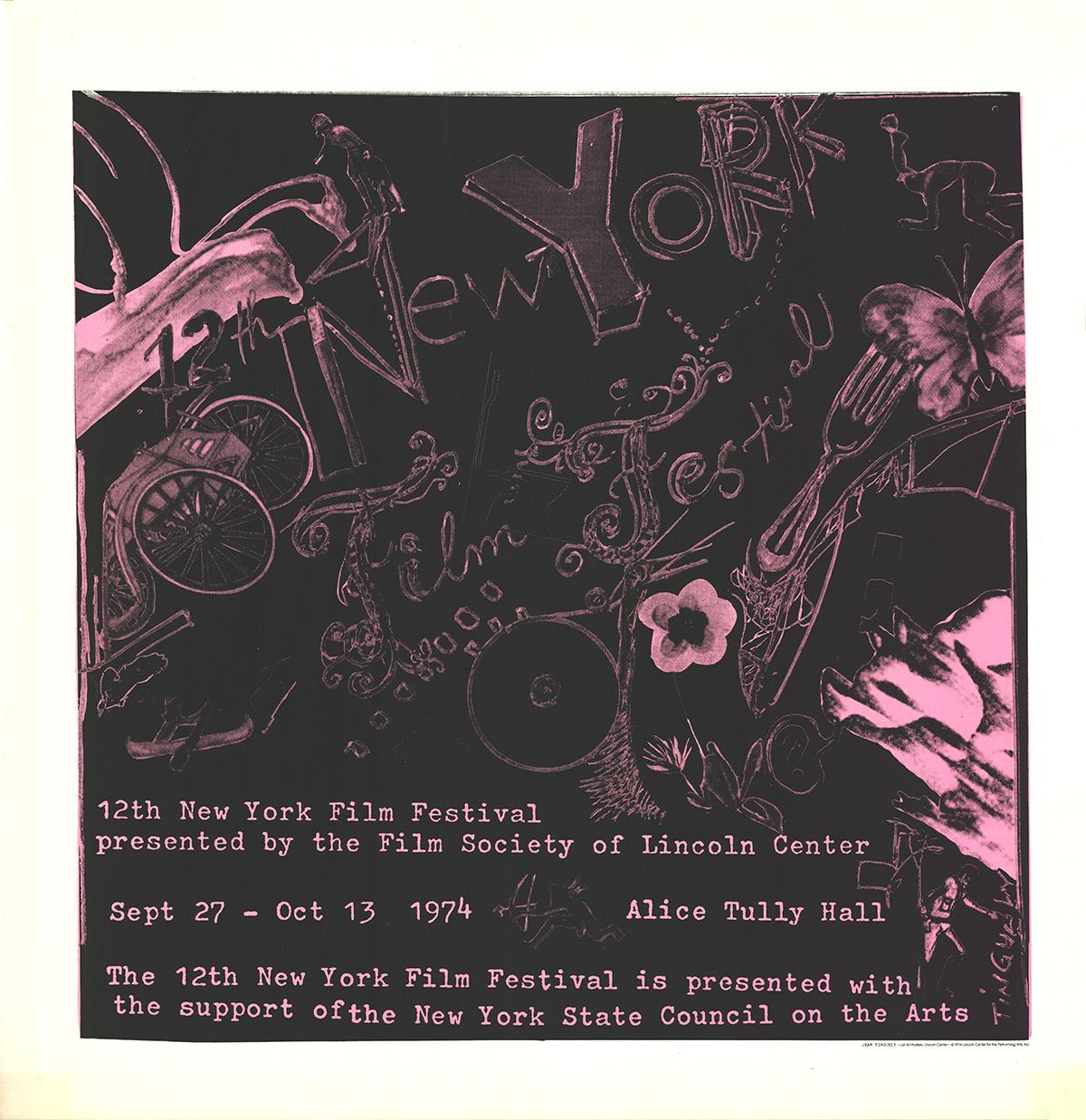 """After Jean Tinguely-12th New York Film Festival-42"""" x 42""""-Serigraph-1974-Realism"""