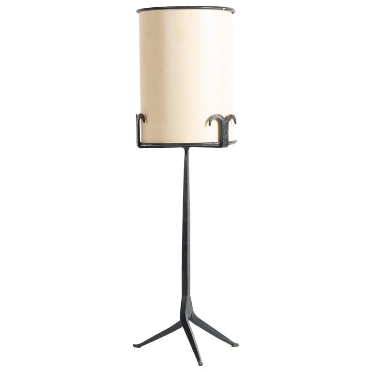 Jean Touret for the Artisans Marolles table lamp, 1950–55, offered by Maison Gerard