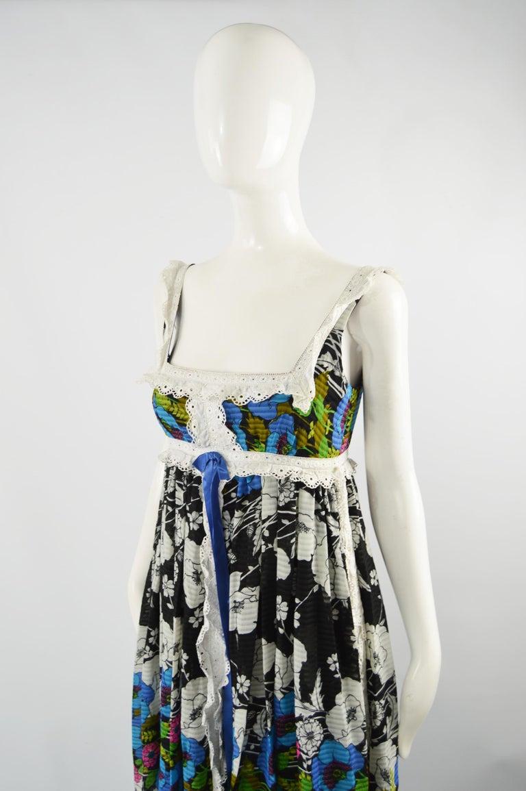 Jean Varon Vintage Sleeveless Boho Maxi Dress, 1970s For Sale 1