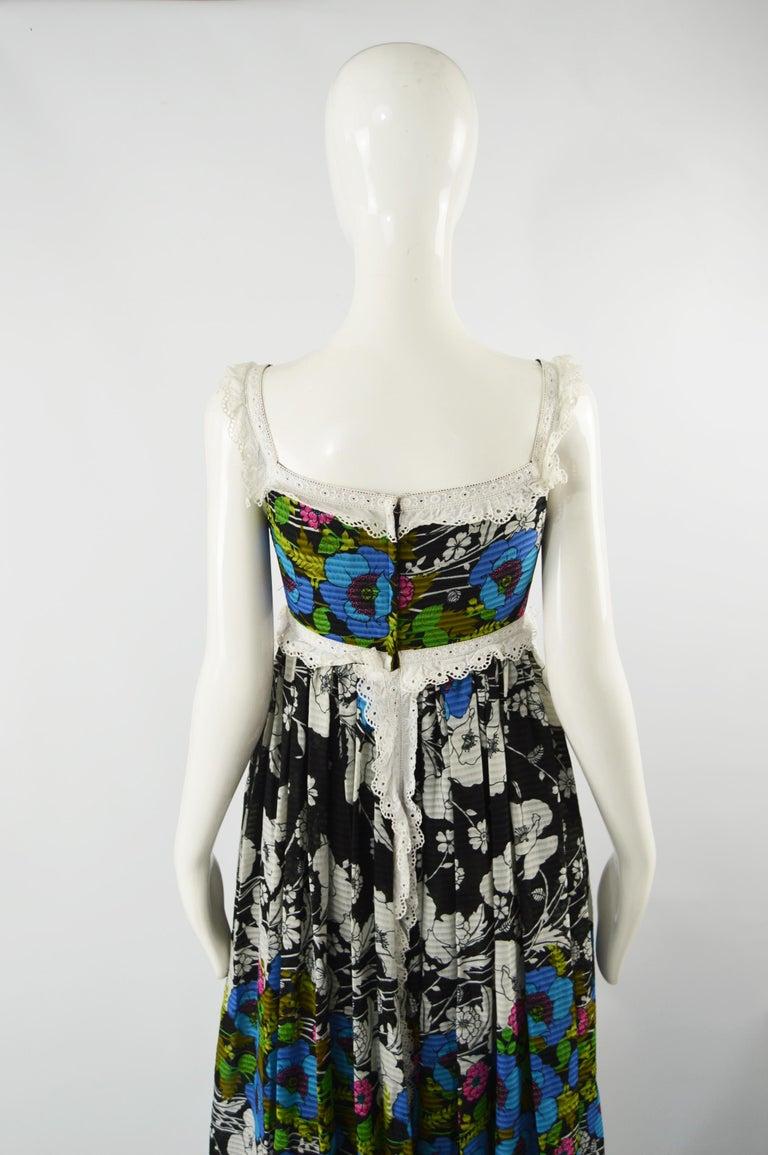 Jean Varon Vintage Sleeveless Boho Maxi Dress, 1970s For Sale 3