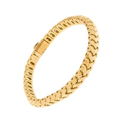 Jean Vitau 18 Karat Gold Vannerie Flexible Bracelet