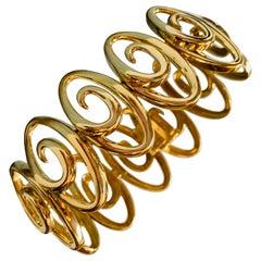Jean Vitau 18 Karat Yellow Gold Infinity Link Bracelet