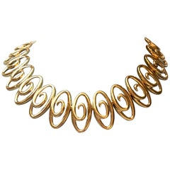 Jean Vitau 18 Karat Yellow Gold Infinity Link Necklace