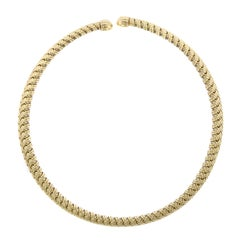 Jean Vitau, Gemveto 18 Karat Yellow Gold Necklace
