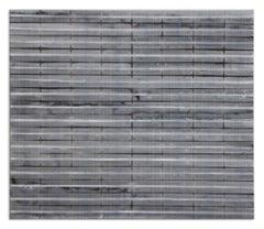 Blue 1/2 x 1 1.13.13 - Original Painting - Acrylic on Folded Paper - Minimal