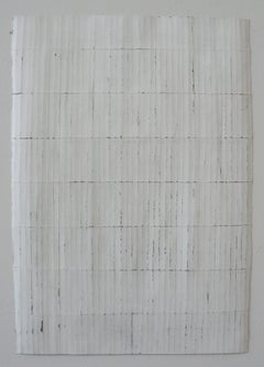 White 2x1.4 - Original Abstract Minimal Painting - Acrylic on Paper