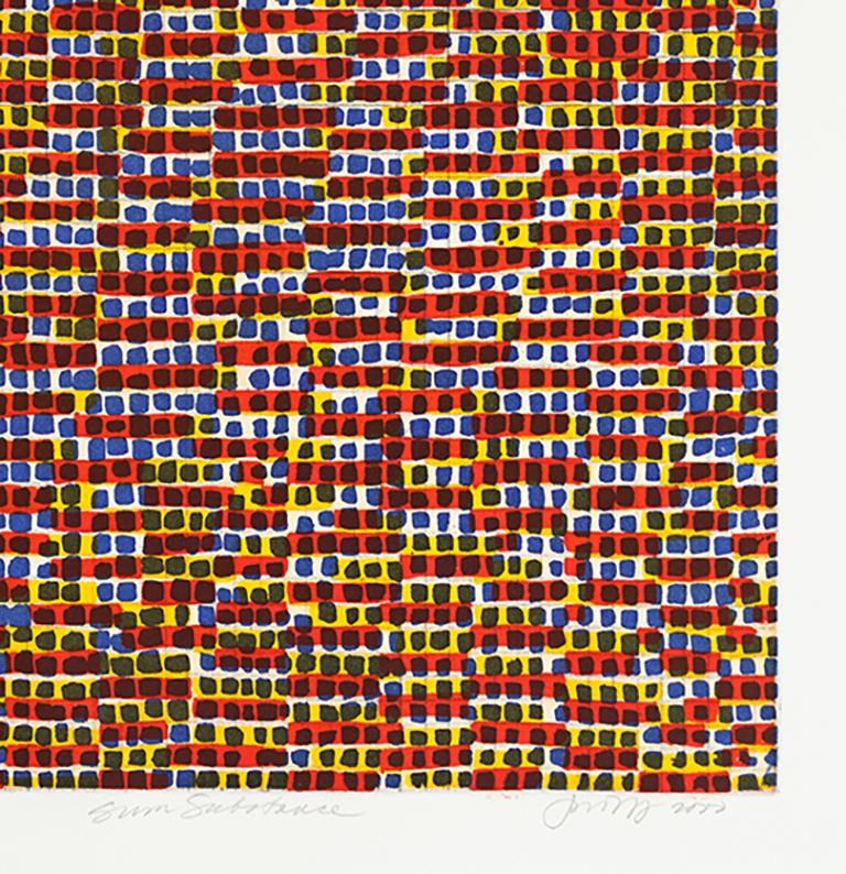 Sum Substance - Abstract Print by Jean Wolff