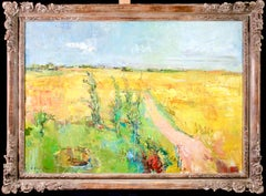 Paysage - Post Impressionist Oil, Summer Landscape by Jean Yves Commere