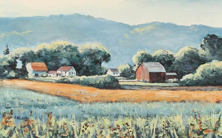 Antique American Female Impressionist New York Modernist Landscape Oil Painting For Sale 1