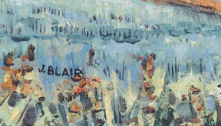 Antique American Female Impressionist New York Modernist Landscape Oil Painting For Sale 2