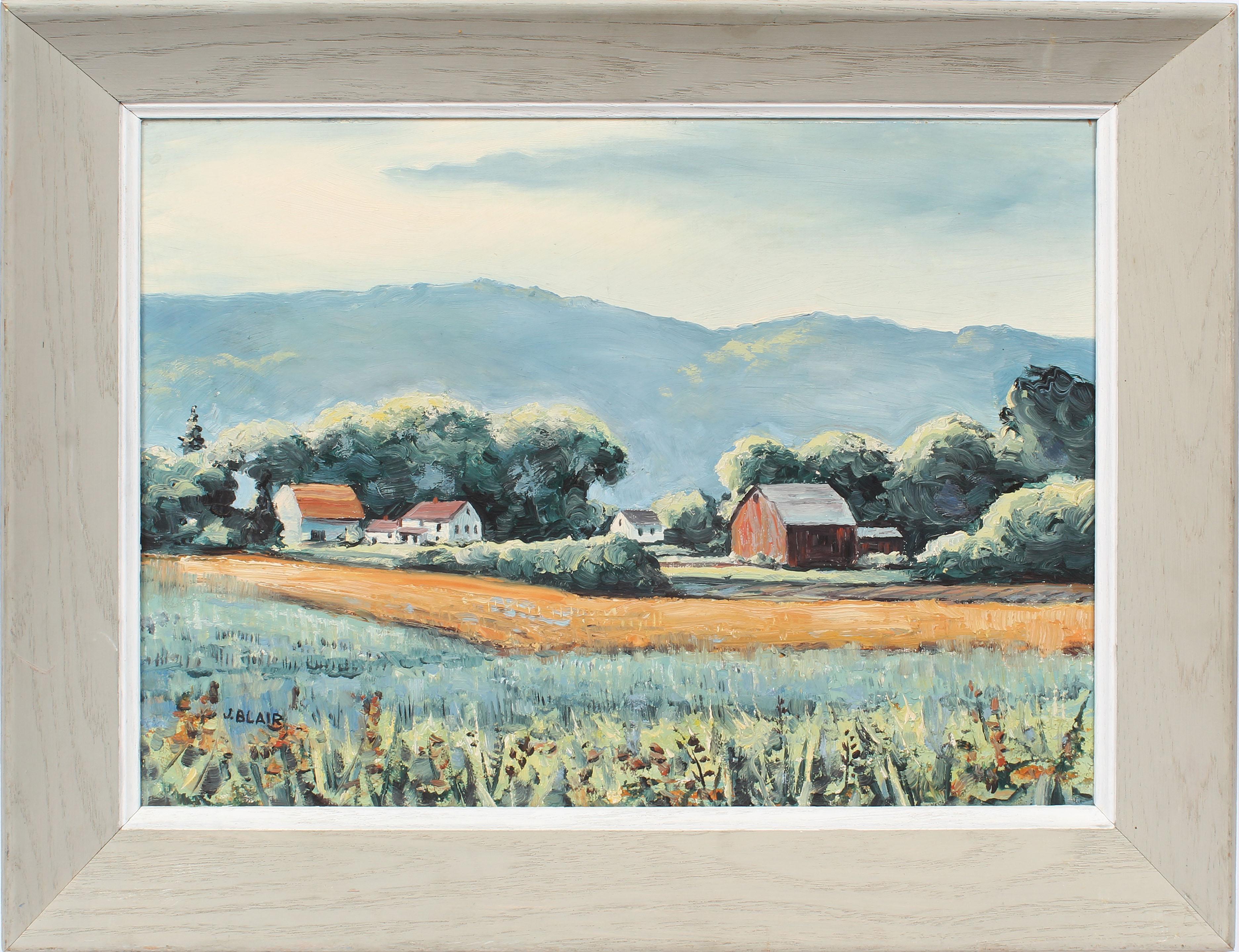 Antique American Female Impressionist New York Modernist Landscape Oil Painting