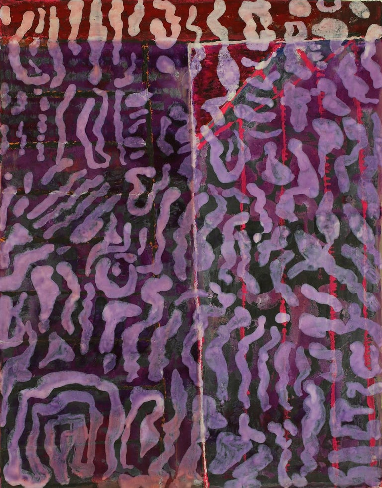 Jeanette Cole Abstract Painting - .111X Cat's Cradle Series