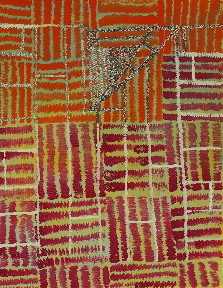 Jeanette Cole Abstract Painting - .115X Cat's Cradle Series