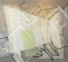 Permanently Temporary #2: Geometric & Gestural Abstract Painting in Earth Tones