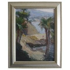 Jeanette Le Grue Impressionist Oil Painting California Beach Santa Barbara
