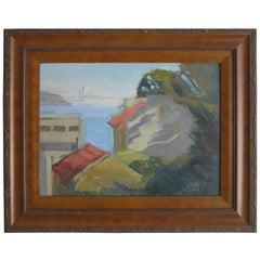 Jeanette Le Grue Impressionist Oil Painting of San Francisco Oakland Bay Bridge