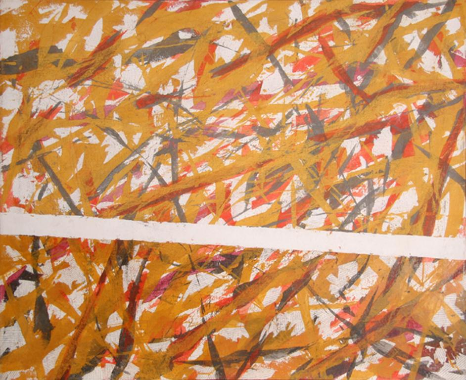 Large Abstract Painting by Jeanick Bouys
