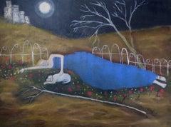 Pilgrims at the Gate, il, Everywoman protagonist,moonlit sky,feminine archetypes