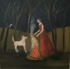 The Contract, Everywoman, protagonist, dog painting ,feminine archetypes
